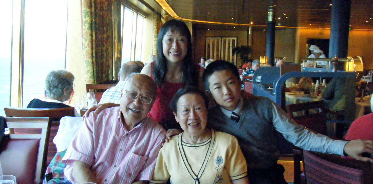 Gilda and family on Alaska cruise