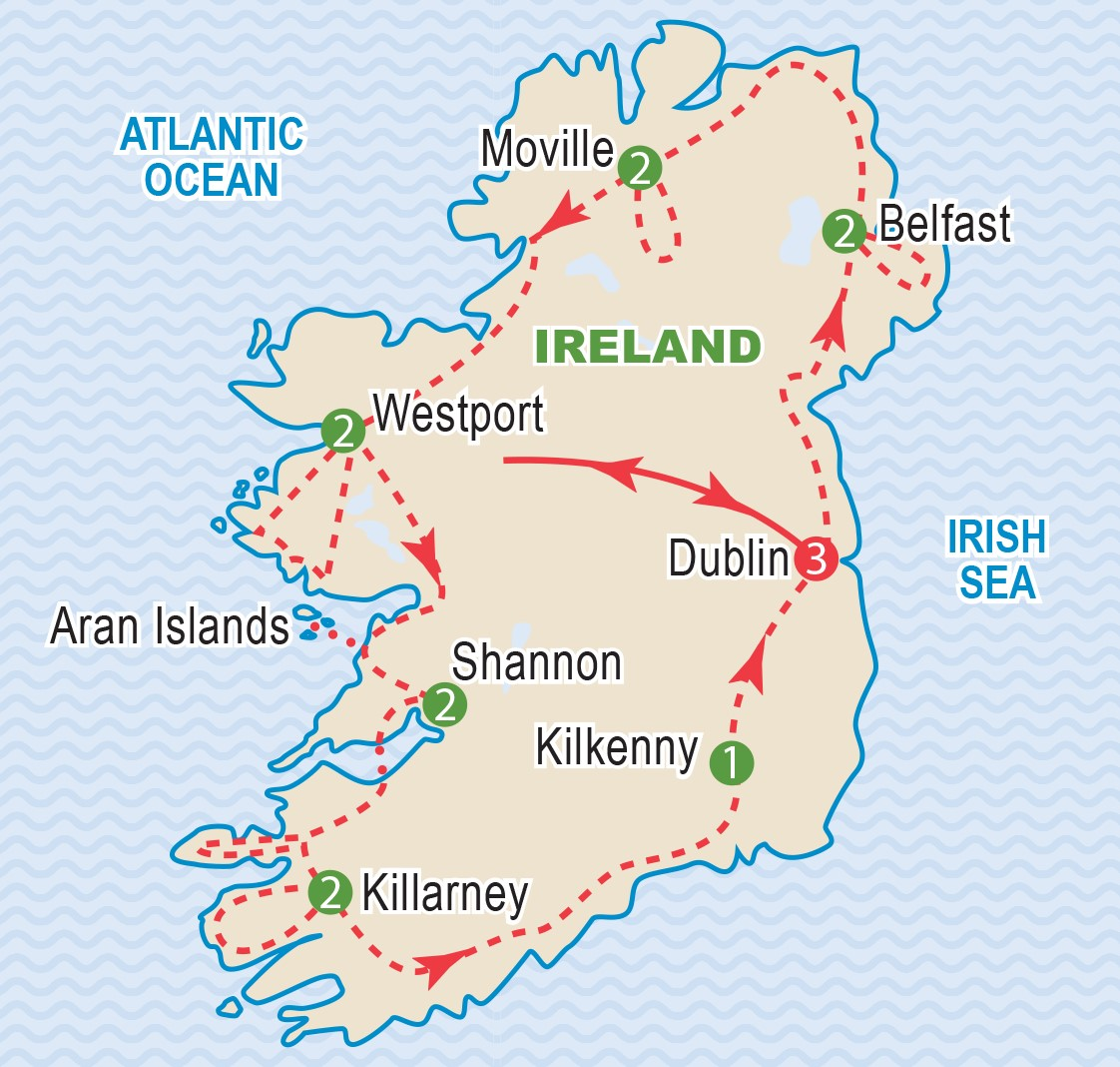 Map Of Ireland With Islands.Best Of Ireland May 2019 Craig Travel