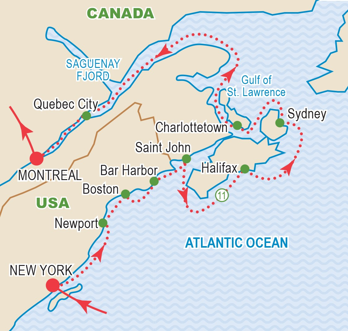 Map Of New York And Quebec.Canada And New England October 2019 Craig Travel