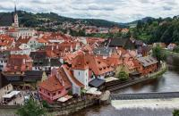 The small central European town of Cesky Krumlov, a UNESCO World Heritage Site