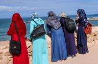 Women overlooking the Atlantic Ocean by Gwen Morse (at Kasbah des Oudaias in Rabat, Morocco in Oct 2019)