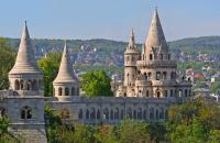 The distinctive Fisherman's Bastion in Budapest, Hungary