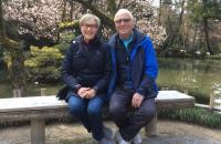 Donna and Vern Rombough on their journey through Japan