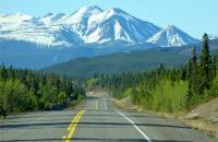 On the road in majestic Alaska!  Photo by Lorraine Guerreiro