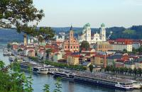 We visited the charming port of Passau, Germany