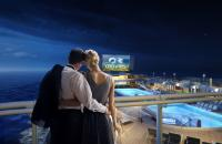 Enjoy a movie right from your balcony - Credit Princess Cruises