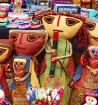 Colourful Peruvian crafts - Credit Group Escort Janet Williams